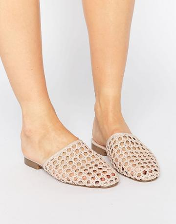 Asos Marbles Woven Mules - Beige