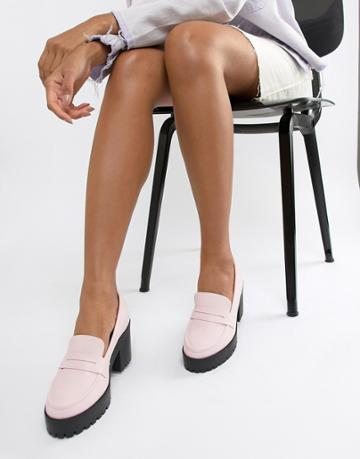 Asos Design Trilogy Chunky Loafers - Pink