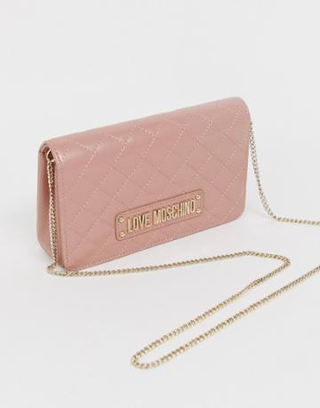 Love Moschino Quilted Mini Bag - Pink