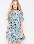 Influence Floral Dress - Blue