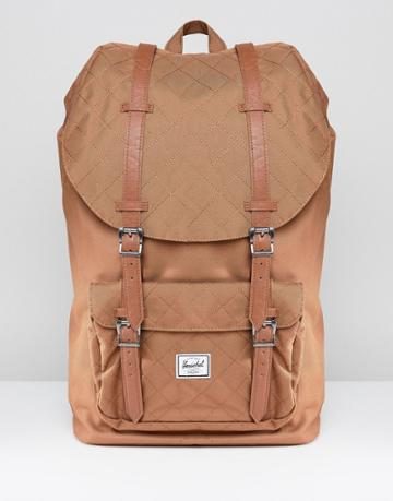 Herschel Supply Co Little America Backpack Quilted 25l - Brown