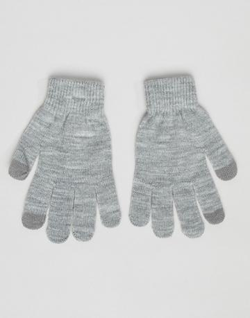 Pieces Knitted Touch Screen Gloves - Gray