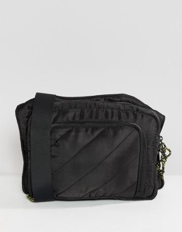 Asos Design Quilted Cross Body Bag - Black