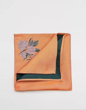Asos Pocket Square In Orange - Orange