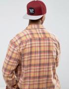 Brixton Wheeler Snapback Cap - Red
