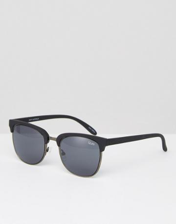 Quay Australia Retro Sunglasses Flint - Black
