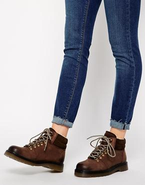 Asos Any Day Now Leather Ankle Boots - Brown