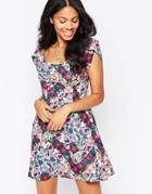 Love Printed Floral Dress - Multi