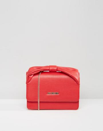Love Moschino Clutch Bag With Chain And Bow - Red