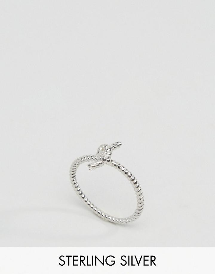 Reclaimed Vintage Sterling Silver Knot Ring - Silver