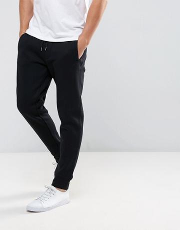 Armani Jeans Cuffed Logo Sweat Joggers Black - Black