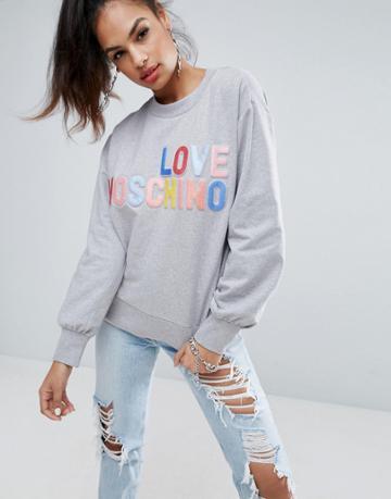Love Moschino Sweater - Gray