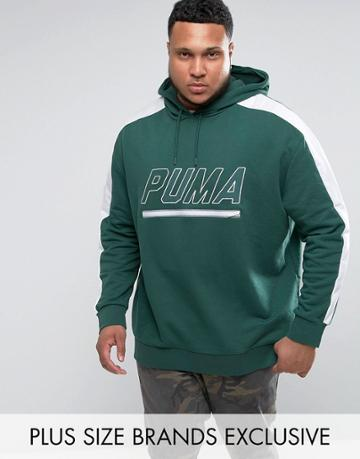 Puma Plus Vintage Terry T7 Hoodie In Green Exclusive To Asos - Green