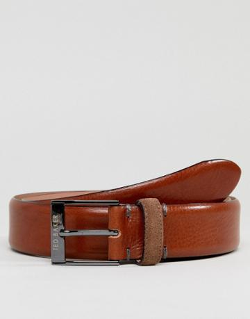 Ted Baker Pests Belt In Leather - Brown