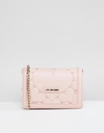 Love Moschino Heart Chain Shoulder Bag - Pink