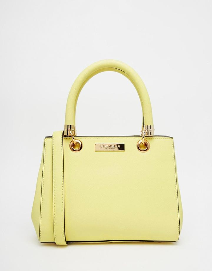 Carvela Mini Handheld Bag With Optional Strap - Yellow