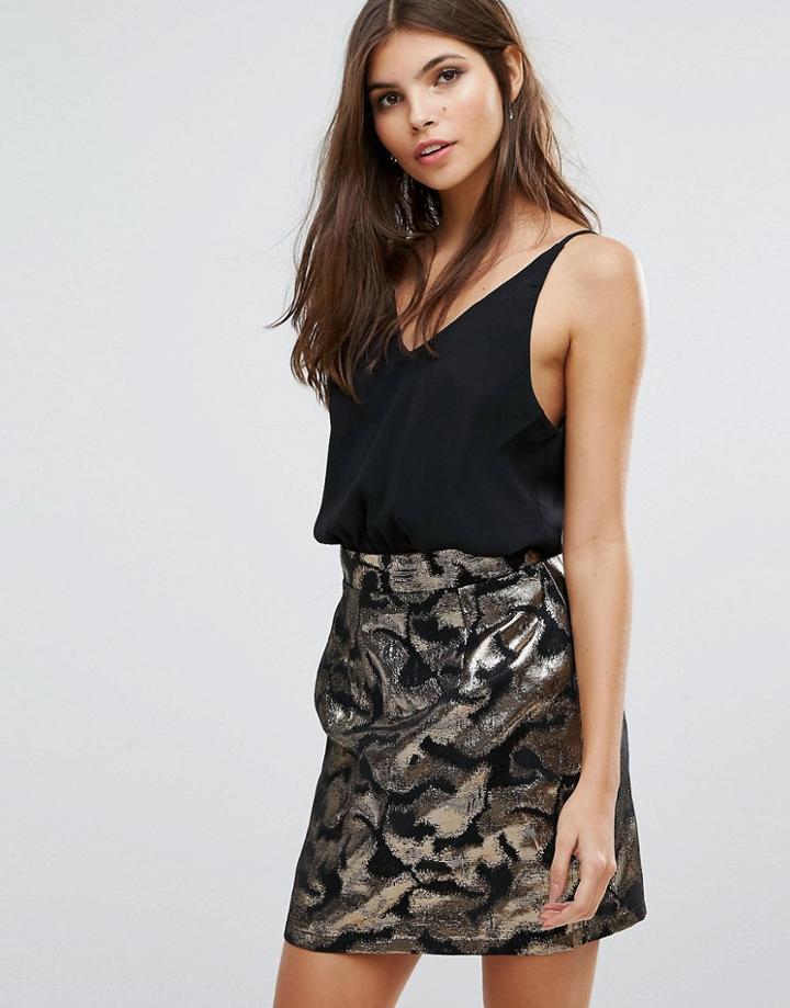 Ax Paris Jaquard Mini Aline Dress - Multi