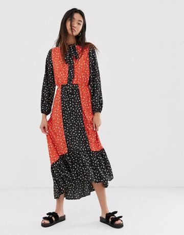Only Maxi Dress In Mixed Floral Print