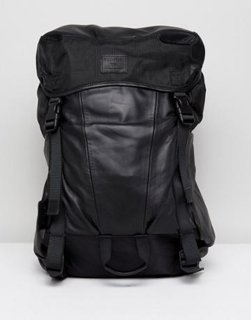 Sandqvist Elliot Backpack In Leather - Black