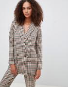 Asos Design Tailored Heritage Check Blazer - Multi