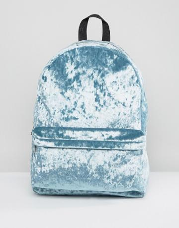 Asos Velvet Backpack - Green