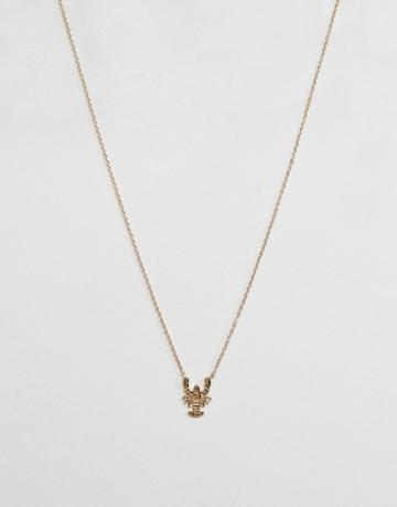 Asos Lobster Necklace - Gold