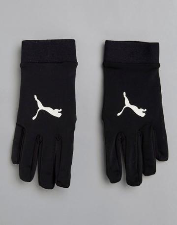 Puma Soccer Field Player Gloves In Black 04114601 - Black
