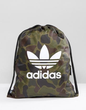 Adidas Originals Gym Backpack In Camo Bk7213 - Multi