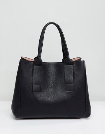 Mango Structured Shopper - Black