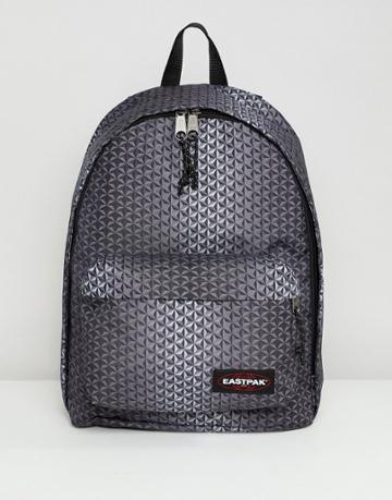 Eastpak Out Of Office Geo Print Backpack 27l - Black