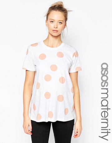 Asos Maternity Blush Spot T-shirt - Multi