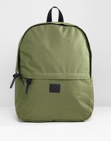Asos Design Backpack In Khaki - Green