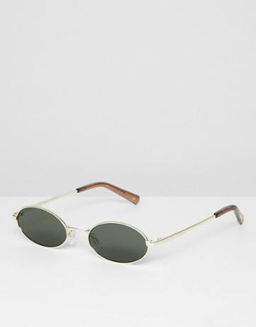 Le Specs Love Train Round Sunglasses In Gold - Gold