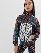 Puma Wild Zebra Print Cropped Jacket - Multi
