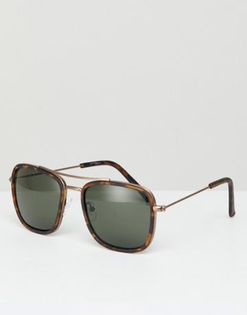 Jeepers Peepers Oversized Square Sunglasses In Tort - Brown