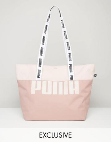 Puma Exclusive To Asos Shopper Bag With Tapered Handles - Pink