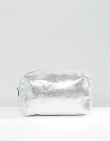 Pimkie Metallic Makeup Bag - Silver