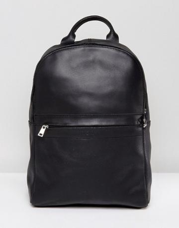 Kiomi Leather Backpack In Black - Black