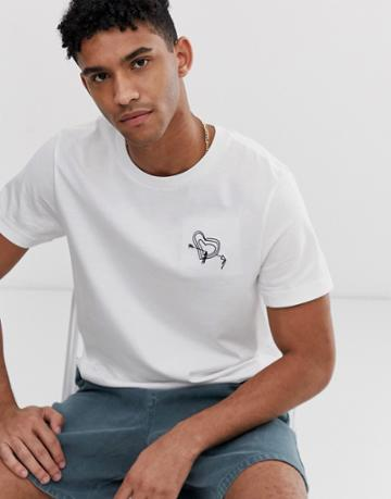Weekday Pictor Toaboa T-shirt - White