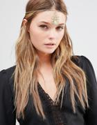 Designb London Jewelled Headband - Gold