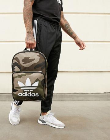 Adidas Originals Camo Print Trefoil Backpack - Green