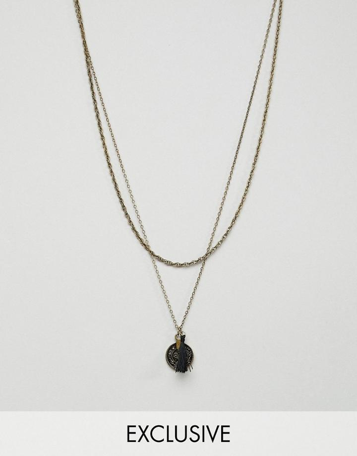 Reclaimed Vintage Inspired Necklace With Coin Pendant Exclusive At Asos - Gold