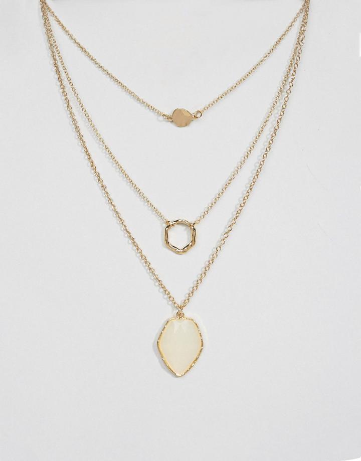 Designb Triple Layer Necklace - Gold