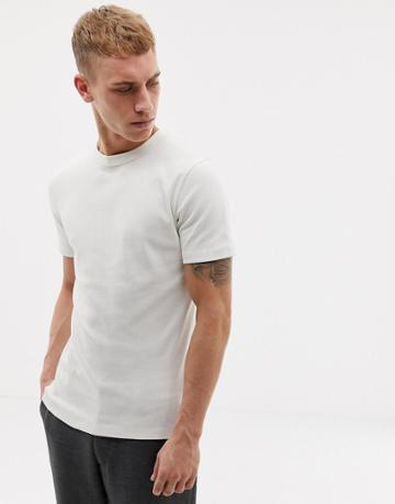 Tiger Of Sweden Jeans Slim Fit Crew Neck T-shirt In Off White - White