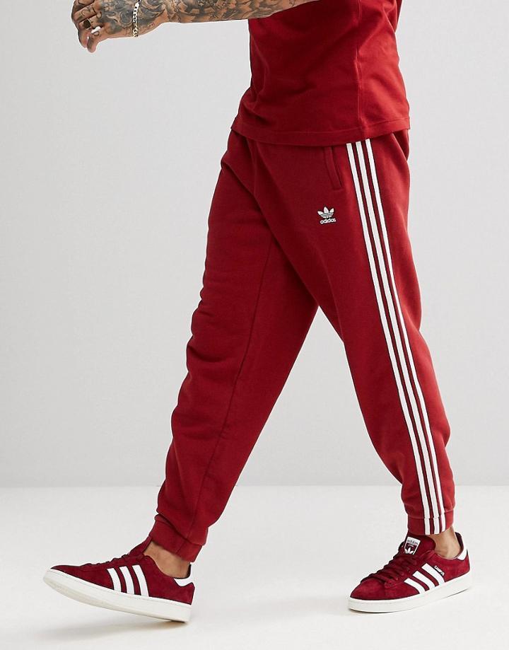 Adidas Originals Adicolor 3 Stripe corredores en rojo cw2428 Rojo