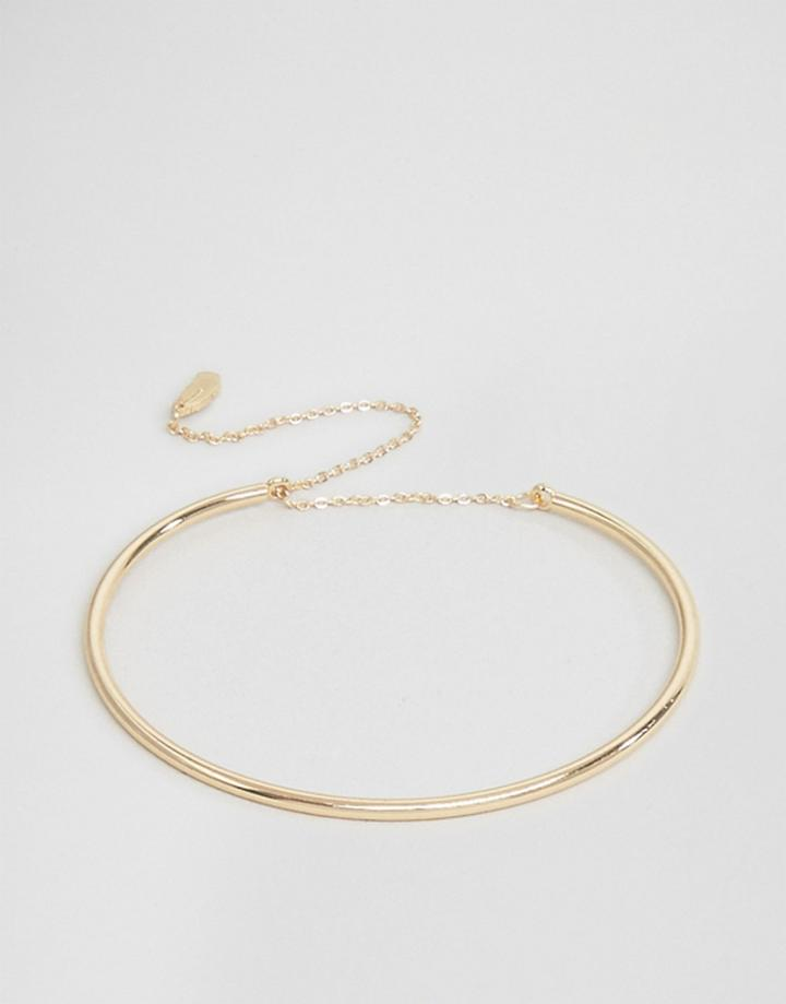 Nylon Gold Plated Bangle - Gold