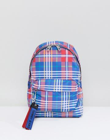 Tommy Jeans Check Mini Backpack - Multi