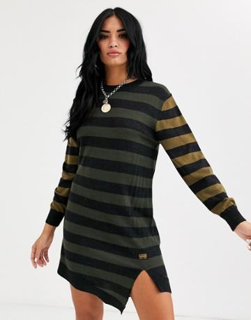 G-star Stripe Dress - Black