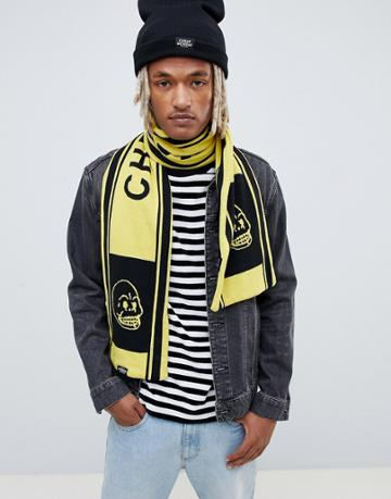 Cheap Monday Soccer Scarf In Black And Yellow - Black