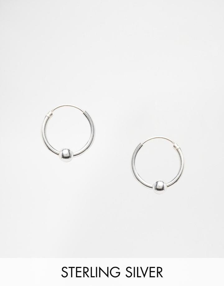 Kingsley Ryan Sterling Silver Mini Ball Hoop Earrings - Silver